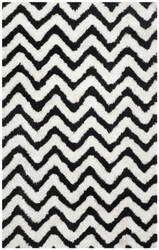 Safavieh Barcelona Shag Bsg320c White / Black Area Rug