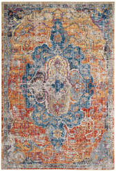 Safavieh Bristol Btl350s Blue - Orange Area Rug
