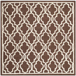Safavieh Cambridge Cam131h Dark Brown / Ivory Area Rug