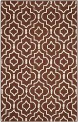 Safavieh Cambridge Cam141h Dark Brown - Ivory Area Rug