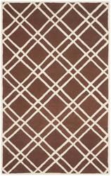 Safavieh Cambridge Cam142h Dark Brown - Ivory Area Rug