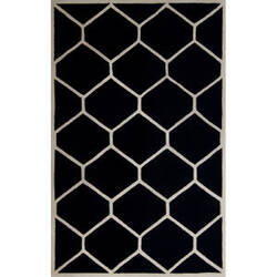 Safavieh Cambridge CAM144E Black / Ivory Area Rug