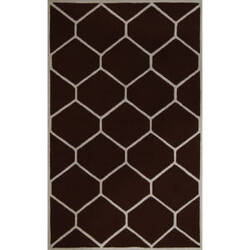 Safavieh Cambridge CAM144H Dark Brown / Ivory Area Rug