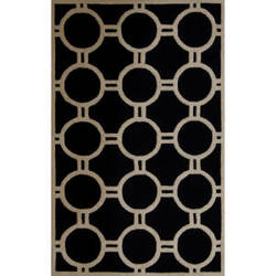 Safavieh Cambridge CAM145E Black / Ivory Area Rug