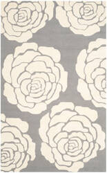Safavieh Cambridge Cam782d Dark Grey - Ivory Area Rug