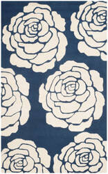 Safavieh Cambridge Cam782m Navy - Ivory Area Rug