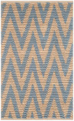 Safavieh Cape Cod Cap863m Natural - Light Blue Area Rug