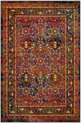 Safavieh Cherokee Chr918q Red - Black Area Rug