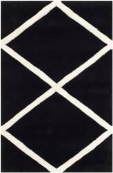 Safavieh Chatham Cht720k Black / Ivory Area Rug