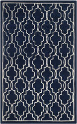 Safavieh Chatham Cht723c Dark Blue / Ivory Area Rug