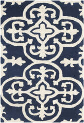 Safavieh Chatham Cht729c Dark Blue - Ivory Area Rug