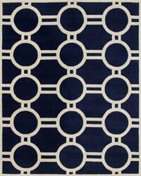 Safavieh Chatham CHT739C Dark Blue / Ivory Area Rug
