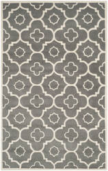 Safavieh Chatham Cht750d Dark Grey / Ivory Area Rug