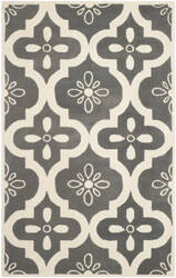 Safavieh Chatham Cht751d Dark Grey / Ivory Area Rug