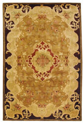 Safavieh Classic CL234B Gold / Cola Area Rug