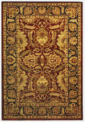 Safavieh Classic CL239B Burgundy / Black Area Rug