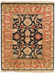 Safavieh Classic CL244C Black / Burgundy Area Rug