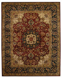 Safavieh Classic CL362A Burgundy / Navy Area Rug