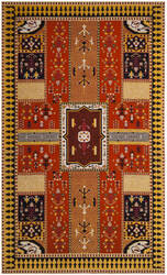 Safavieh Classic Vintage Clv512d Orange - Gold Area Rug