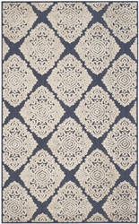 Safavieh Cottage Cot907a Navy - Creme Area Rug