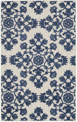 Safavieh Cottage Cot910b Light Grey - Royal Blue Area Rug