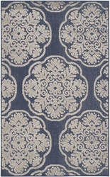 Safavieh Cottage Cot911a Navy - Creme Area Rug