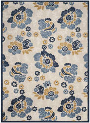 Safavieh Cottage Cot920b Ivory - Blue Area Rug