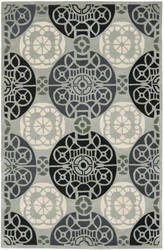 Safavieh Capri Cpr353c Grey / Black Area Rug
