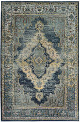 Safavieh Crystal Crs500m Blue - Yellow Area Rug
