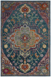 Safavieh Crystal Crs501t Teal - Rose Area Rug
