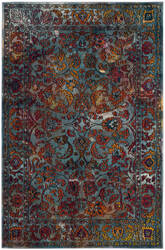 Safavieh Crystal Crs515a Light Blue - Orange Area Rug