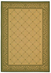 Safavieh Courtyard Cy1502-1e01 Natural / Olive Area Rug