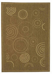 Safavieh Courtyard Cy1906-3009 Brown / Natural Area Rug