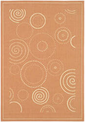 Safavieh Courtyard Cy1906-3202 Terracotta / Natural Area Rug