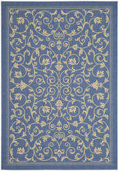 Safavieh Courtyard Cy2098-3103 Blue / Natural Area Rug