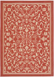 Safavieh Courtyard Cy2098-3707 Red / Natural Area Rug