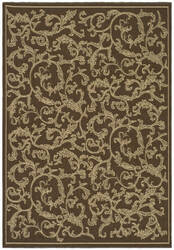 Safavieh Courtyard Cy2653-3009 Brown / Natural Area Rug