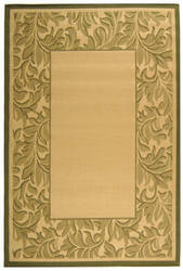 Safavieh Courtyard Cy2666-1e01 Natural / Olive Area Rug