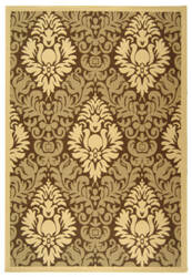 Safavieh Courtyard Cy2714-3009 Brown / Natural Area Rug
