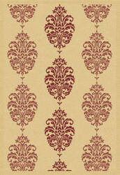 Safavieh Courtyard Cy2720-3701 Natural / Red Area Rug