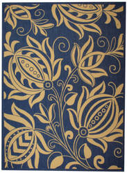 Safavieh Courtyard Cy2961-3103 Blue / Natural Area Rug
