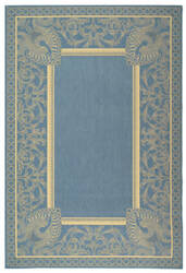 Safavieh Courtyard Cy2965-3103 Blue / Natural Area Rug