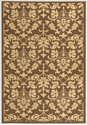 Safavieh Courtyard Cy3416-3409 Chocolate / Natural Area Rug