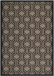 Safavieh Courtyard Cy6114-81 Brown / Black Area Rug