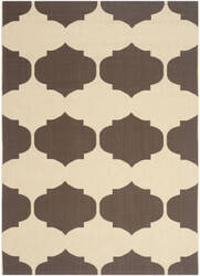 Safavieh Courtyard Cy6162-402 Beige / Chocolate Area Rug