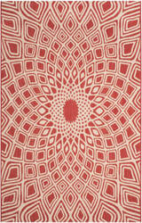Safavieh Courtyard Cy6616 Red - Beige Area Rug