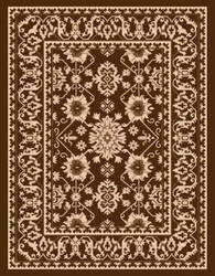 Safavieh Courtyard Cy6727 Chocolate - Cream Area Rug