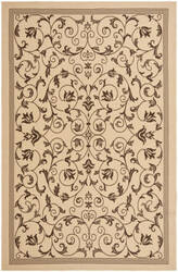 Safavieh Courtyard Cy6818 Natural - Chocolate Area Rug