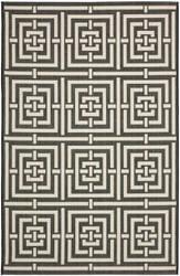 Safavieh Courtyard Cy6937-26 Black / Bone Area Rug