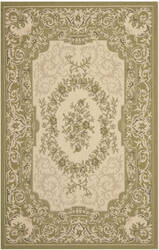 Safavieh Courtyard Cy7208 Cream - Green Area Rug